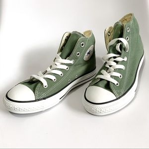 "NEW hi-top converse ""sea spray"" green youths 3"